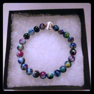 Jewelry - Teal & Blue Jade Stone Bracelet